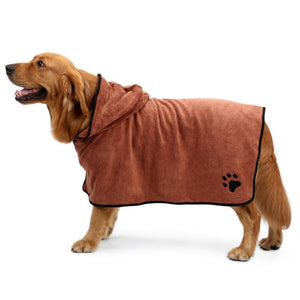 Pet Dog Towel Super Absorbent Dog Bathrobe Microfiber Bath Towels Quick-Drying Cat Bath Towel