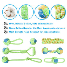 Load image into Gallery viewer, 7 Pack Chew Cotton Rope Dog Toy for Dogs Outdoor Teeth Clean Dog Ball Rope Toys for Medium Small Pet Dog Product Toy Bulldog Pug