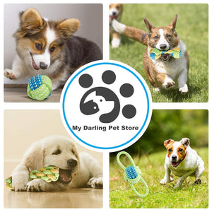 7 Pack Chew Cotton Rope Dog Toy for Dogs Outdoor Teeth Clean Dog Ball Rope Toys for Medium Small Pet Dog Product Toy Bulldog Pug