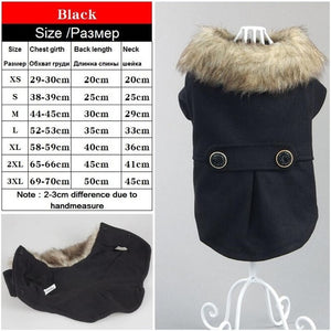 Various Luxury Winter Dog Coat Warm Princess Pet Dog Dress Coat Pet Overalls Winter Dog Clothes Clothing for Dogs Small Pet
