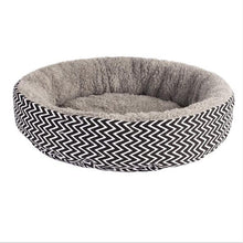 Load image into Gallery viewer, Soft Cat Bed House Round Bed Foldable Dog Sleeping Mat Cushion Nest Warm Kennel Pet Mat Puppy Nest Hide Burger Bread Winter