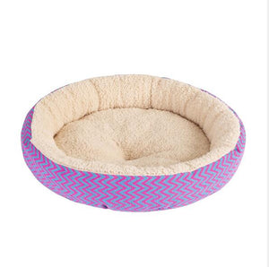 Soft Cat Bed House Round Bed Foldable Dog Sleeping Mat Cushion Nest Warm Kennel Pet Mat Puppy Nest Hide Burger Bread Winter