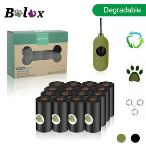 BOLUX Biodegradable Dog Poop Bags Eco-Friendly Pet Waste Bags Dispenser Pet Poop Bags