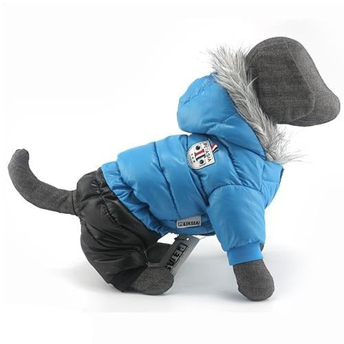 Winter Dog Jacket Snowsuit Super Warm Dog Jacket Thicker Cotton Coat Waterproof for Small Dogs