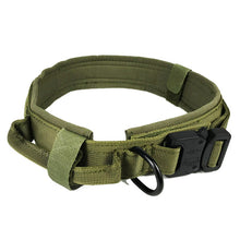 Load image into Gallery viewer, Dog Collar Nylon Adjustable Military Tactical Dog Collars Control Handle Training Pet Cat Dog Collar Pet Products