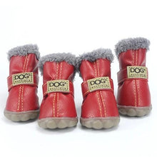 Load image into Gallery viewer, Pet Dog Shoes Winter Super Warm 4pcs/set Dog's Boots Cotton Anti Slip XS XXL Shoes for Small Pet Product Chihuahua Waterproof