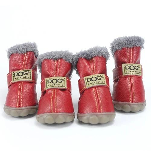 Pet Dog Shoes Winter Super Warm 4pcs/set Dog's Boots Cotton Anti Slip XS XXL Shoes for Small Pet Product Chihuahua Waterproof