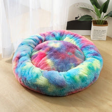 Load image into Gallery viewer, Fleece Cat Beds Round Pet Bed For Cats Dog Plush Bed House For Cat Kitten Marshmallow Cat Bed Mat Cushion Kennel Pet Supplies