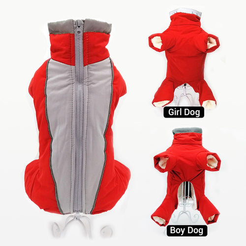 Winter Overalls for Dogs Warm Waterproof Pet Jumpsuit Trousers Male/Female Dog Reflective Small Dog Clothes Puppy Down Jacket