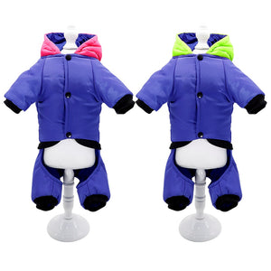 Reflective Dog Clothes Coat Warm Dogs Winter Coat Jacket Pet Clothing French Bulldog Dogs Outfit Jumpsuit