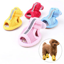 Load image into Gallery viewer, Casual Anti-Slip Small Dog Shoes Cute Pet Shoes Shoe Spring Summer Breathable Soft Mesh Sandals for Dogs