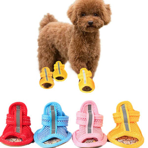 Casual Anti-Slip Small Dog Shoes Cute Pet Shoes Shoe Spring Summer Breathable Soft Mesh Sandals for Dogs