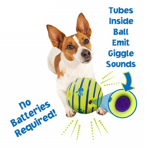 Dog Toy Fun Giggle Sounds Ball Pet Cat Dog Toys Silicon Jumping Interactive Toy Training Ball For Small Large Dogs