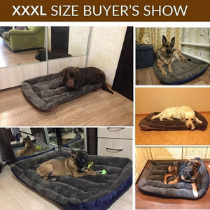 Large Pet Dog Bed  Warm Cozy Soft Fleece Nest Dog Mat