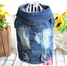Load image into Gallery viewer, Cowboy Dog Vest Denim Dog Clothes Jacket Clothing for Dogs Casual Jeans for Dachshund Bichon Shih Tzu Pitbull