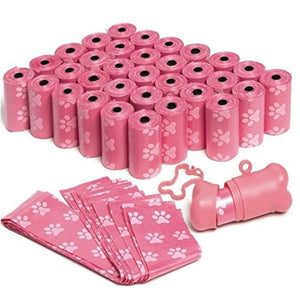 30x Rolls 450pcs Dog Poop Bag Clean Up Refill Rolls Pet Dispenser Bag Waste Garbage Bags Carrier Holder Dispenser Pet Accessories