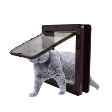 Load image into Gallery viewer, 4 Way Lockable Dog Cat Kitten Door Security Flap Door ABS Plastic S/M/L Animal Small Pet Cat Dog Gate Door Pet Supplies