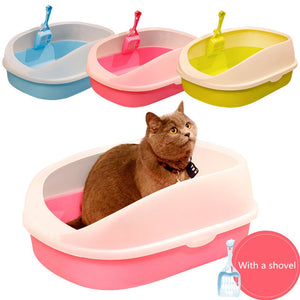 Cat Litter Box Anti-Splash Design with Cat Litter Shovel Puppy Cat Indoor Home Cat Sandbox