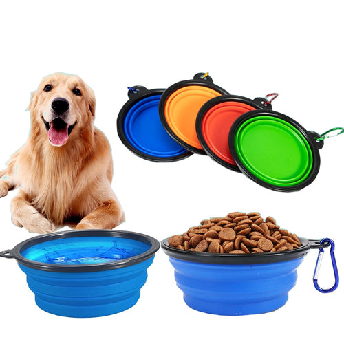 1000ML Pet Bowl Folding Silicone Travel Dog Bowls Walking Portable Water Bowl For Small Medium Dogs Cat Bowls