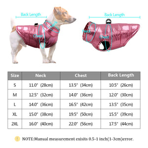Warm Coat For Small Dogs Waterproof Dog Clothes Puppy Pet Jacket Winter Warm Vest Dog Coat Clothing For Chihuahua French Bulldog