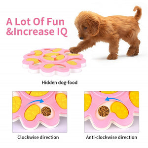 Dog Puzzle Toys Increase IQ Interactive Flower Slow Dispensing Feeding Pet Dog Training Games Feeder for Small Medium Dogs