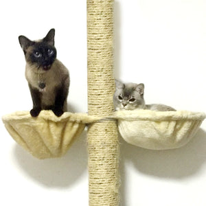 Soft Cat Hammock Install On Cat Tree Cat Hanging Thick Plush Big Capacity Cat Bed