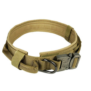 Soft Nylon Dog Collar Dog Neck Tactical Training Collar Pet Military Collar Dog Police Pet Products