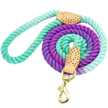 Load image into Gallery viewer, 5 Ft. Dog Leash Round Cotton Dogs Lead Rope Colorful Pet Long Leashes Belt Outdoor Dog Walking Training Leads Ropes