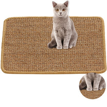 Load image into Gallery viewer, Sisal Cat Scratch Board Cat Scratcher Kitten Mat Climbing Tree Chair Table Mat Furniture Protector Cat Play Toys
