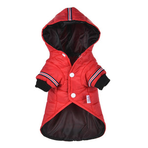 Pet Cats and Dogs Winter Warm Down Jacket Jacket Medium and Small Dog Chihuahua Hooded Clothes Lightweight Hoodie XS-XL