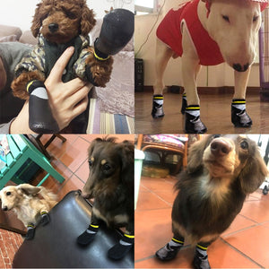 Waterproof Non-Slip Dog Socks Booties Shoes With Rubber Sole Paw Protector for Small to Large Dogs