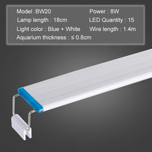 Load image into Gallery viewer, Aquarium LED Light Super Slim Fish Tank Aquatic Plant Grow Lighting Waterproof Bright Clip Lamp Blue LED 18-75cm for Plants 220v