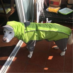Large Dog Raincoat Clothes Waterproof Rain Jumpsuit for Big Medium Small Dogs