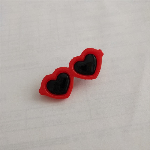 Heart Sunglasses Hairpins Pet Dog Bows Hair Clips for Puppy Dogs Cat Yorkie Teddy Pet Hair