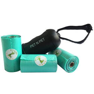 Pet N PET Dog Poop Bags Earth-Friendly 3 Rolls with 1 Dispenser Dog Waste Bags Dog Pooper Scooper Several colors to choose