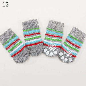 Dog Knit Socks Small Dogs Cotton Anti-Slip Cat Shoes