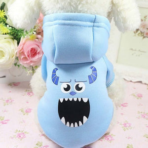 Cartoon Dog Hoodie Pet Dog Clothes For Dogs Coat Jacket Cotton Pets Clothes