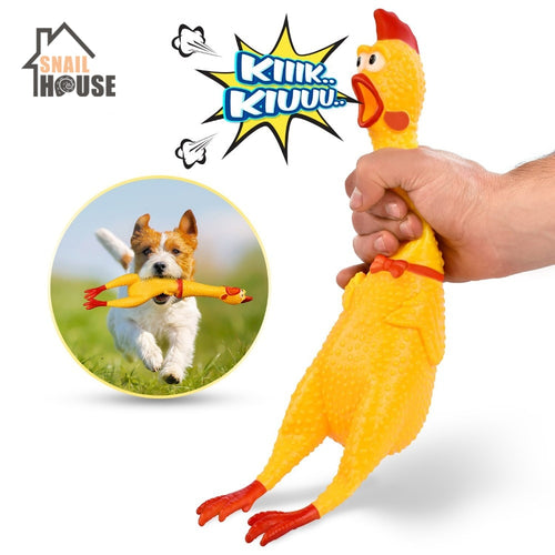 Screaming Chicken Pets Dog Toys Squeeze Squeaky Sound Funny Toy Safety Rubber For Dogs Molar Chew Toys