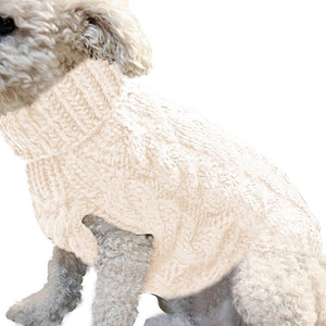 Winter Knitted Dog Clothes Warm Jumper Sweater For Small Large Dogs Pet Clothing Coat Knitting Crochet Cloth Jersey