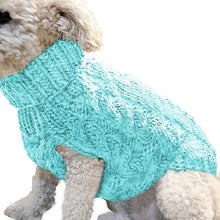 Load image into Gallery viewer, Winter Knitted Dog Clothes Warm Jumper Sweater For Small Large Dogs Pet Clothing Coat Knitting Crochet Cloth Jersey