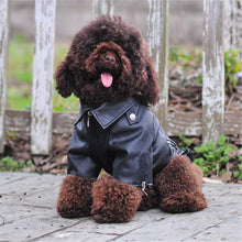 Load image into Gallery viewer, Glorious Eagle Pattern Dog Coat PU Leather Jacket Soft Waterproof Outdoor Puppy Outerwear Fashion Clothes For Small Pets