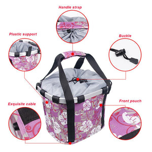 Pets Cat Seat Dog Bicycle Basket Waterproof Pets Seat Bicycle Basket Front Removable BIke Basket Carrier Bag Cycling Accessories