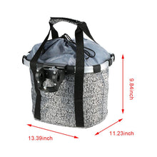 Load image into Gallery viewer, Pets Cat Seat Dog Bicycle Basket Waterproof Pets Seat Bicycle Basket Front Removable BIke Basket Carrier Bag Cycling Accessories