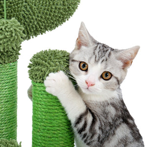 Cactus Cat Tree Scratching Post with Ball Scratcher Posts for Cats Kitten Climbing Tree Cat Toy