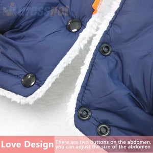 Waterproof Dog Coat Faux Fur Collar Dog Jacket Winter Warm Coat with Hood for Small Medium Dogs