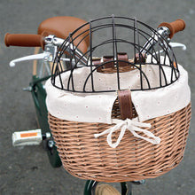 Load image into Gallery viewer, Dog Bicycle Basket Seat Pet Basket Front Removable Bike Basket Carrier for Pets