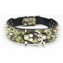 "Load image into Gallery viewer, 2"" Wide Spiked Dog Collar Leather Collar Adjustable for Medium to Large Dogs"