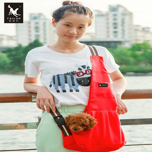 Dog Sling Bags Outdoor Windproof Carriers For Small Cats and Puppies