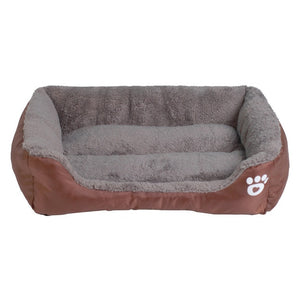 S-3XL 9 Colors Paw Pet Sofa Dog Beds Waterproof Bottom Soft Fleece Warm Cat Bed House