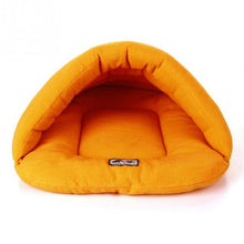 Load image into Gallery viewer, Soft Fleece Winter Warm Pet Dog Bed 4 different size Small Dog Cat Sleeping Bag Puppy Cave Bed